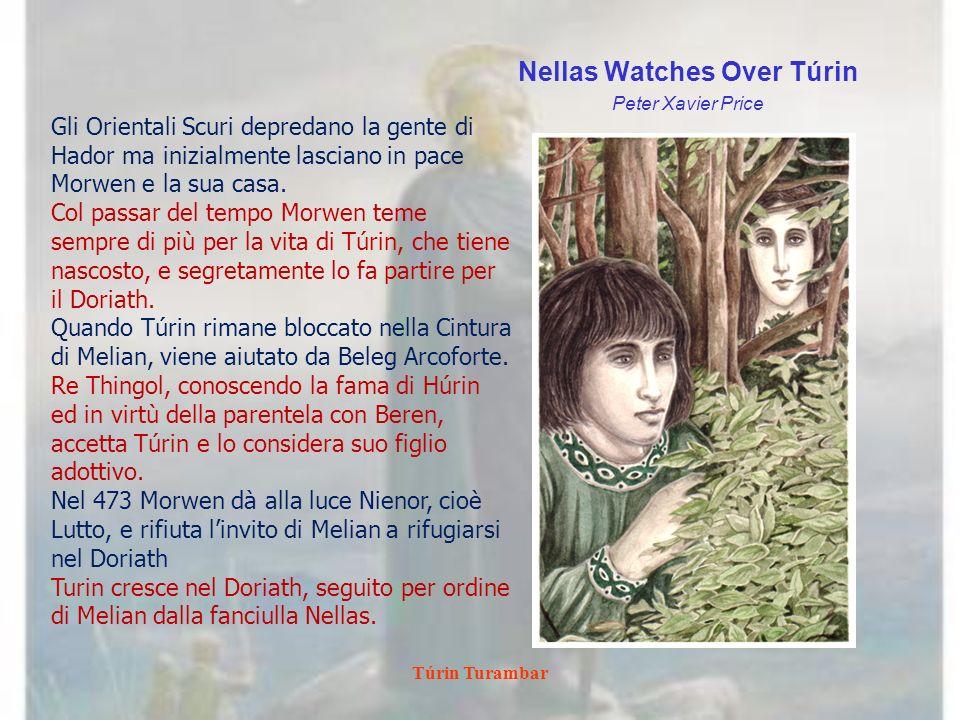 Túrin Turambar Tuor s Sighting at the Pool of Ivrin Peter Xavier Price Túrin attraversa le montagne del Dor Lómin e torna verso il Nargothrond.