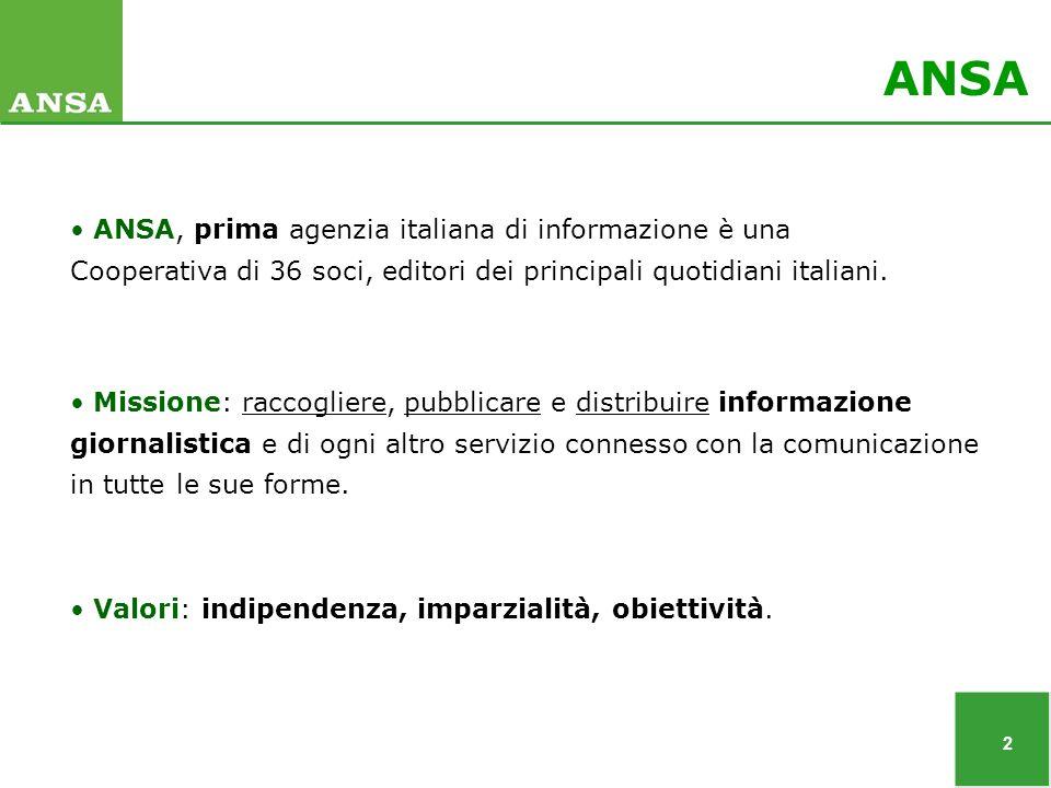 2 Valori: indipendenza, imparzialità, obiettività.