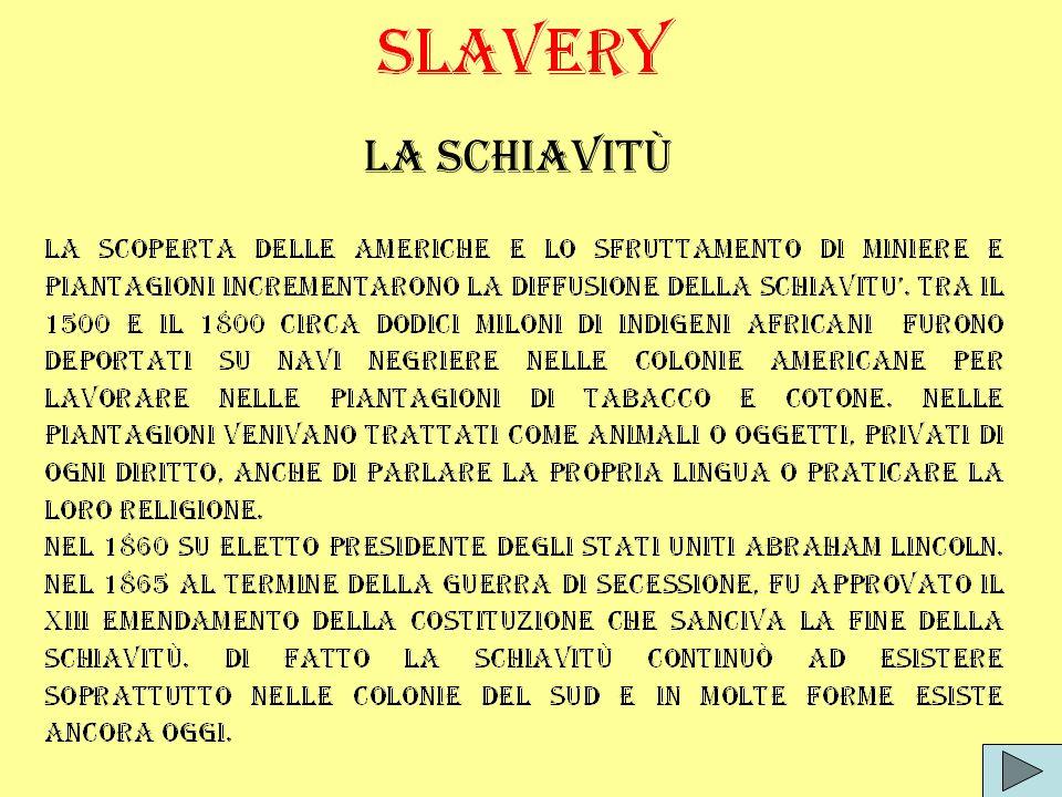 La schiavitù