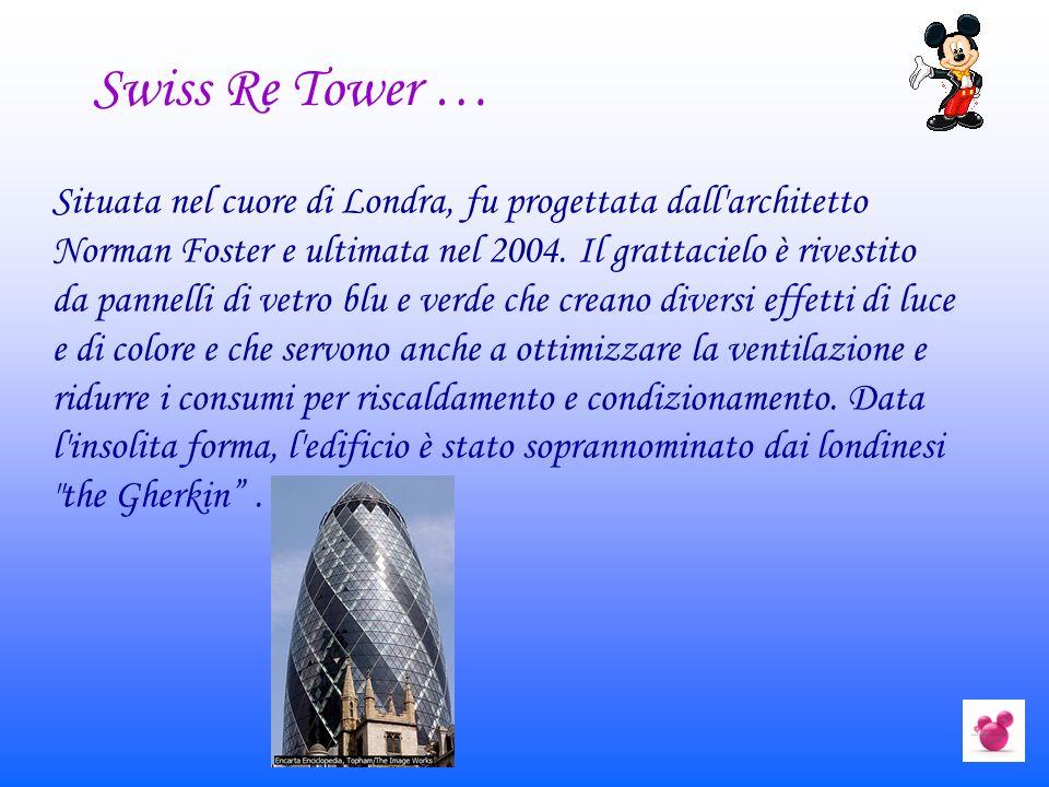 Situata nel cuore di Londra, fu progettata dall'architetto Norman Foster e ultimata nel 2004. Il grattacielo è rivestito da pannelli di vetro blu e ve