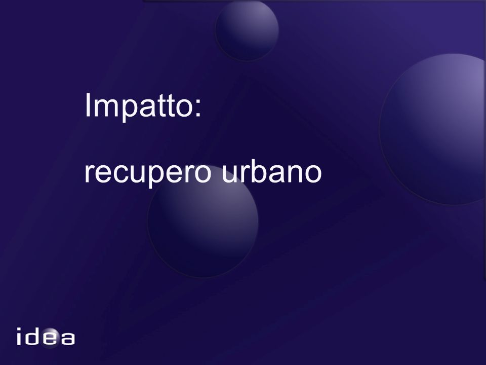 Impatto: recupero urbano