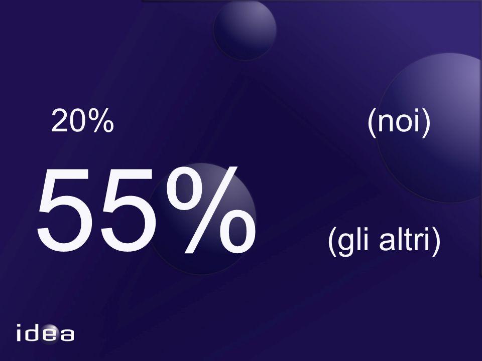 20% (noi) 55% (gli altri)