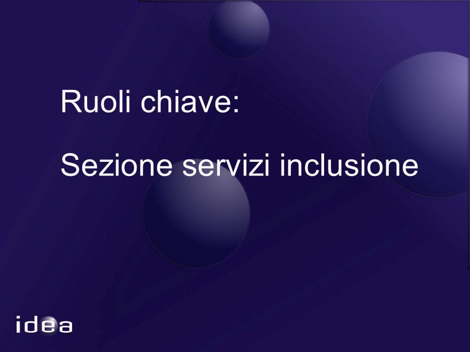 Ruoli chiave: Sezione servizi inclusione