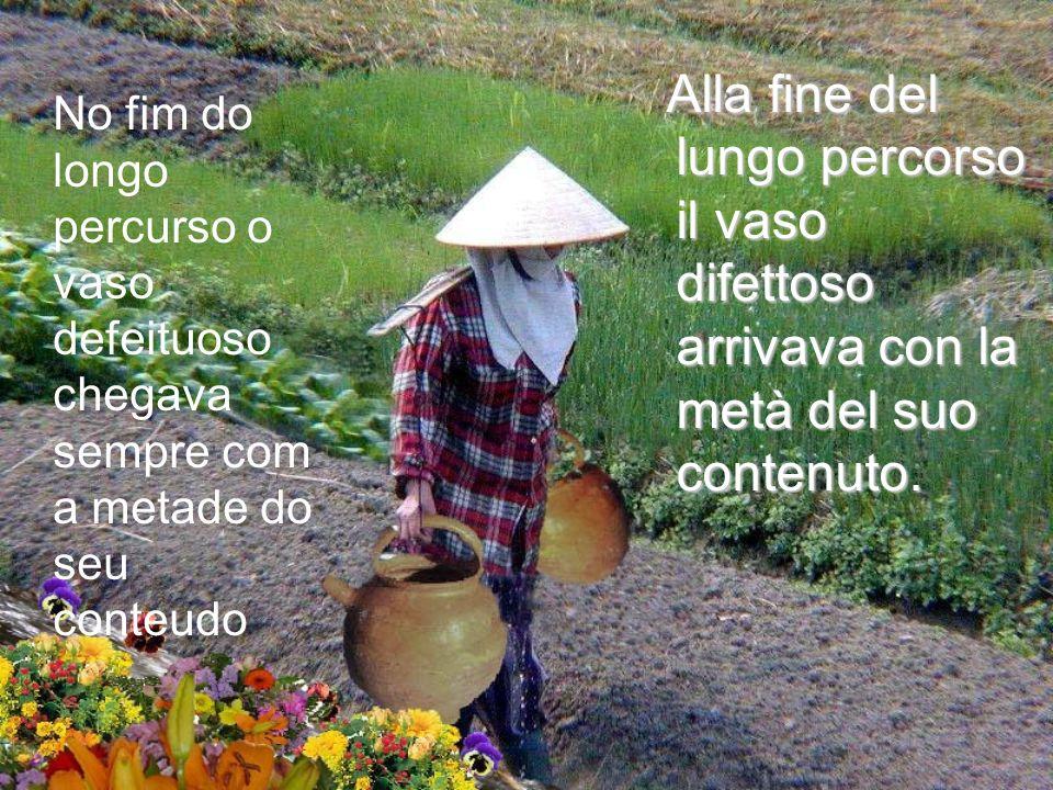 Uno dei vasi avava una crepa, mentre laltro era perfetto e consegnava sempre tutto il suo contenuto di acqua. Uno dei vasi avava una crepa, mentre lal
