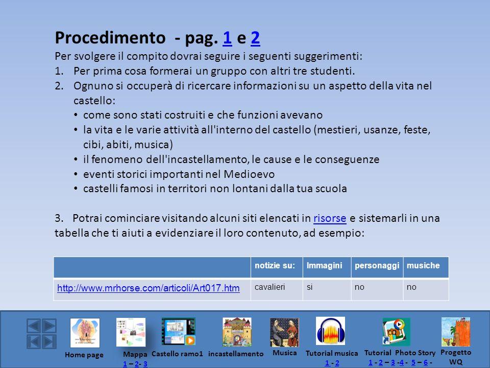 Procedimento - pag. 1 e 212 Per svolgere il compito dovrai seguire i seguenti suggerimenti: 1. Per prima cosa formerai un gruppo con altri tre student