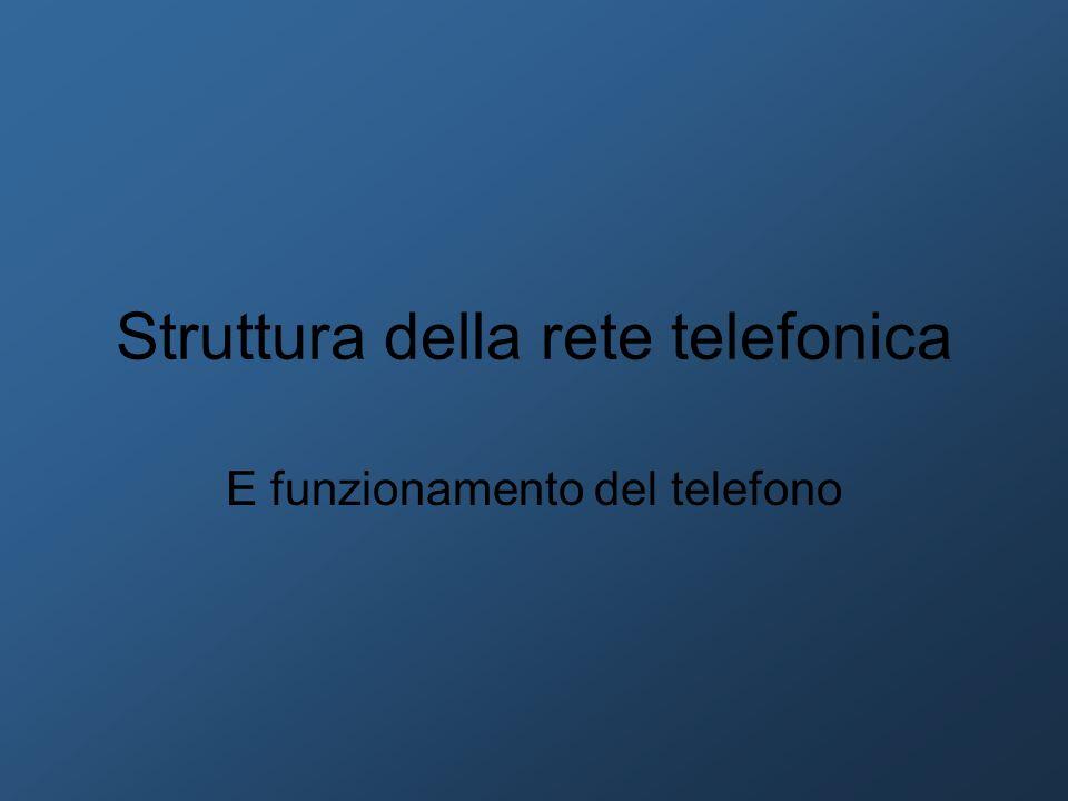 Struttura della rete telefonica E funzionamento del telefono