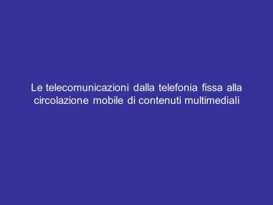 La telefonia cellulare Solo negli anni Ottanta si sono create le condizioni per la tecnologia cellulare: la competizione tra gli operatori di telecomunicazione; laccresciuta domanda di reperibilità; la disponibilità di microprocessori a basso costo e dimensioni ridottissime; la saturazione delle frequenze dei servizi tradizionali.