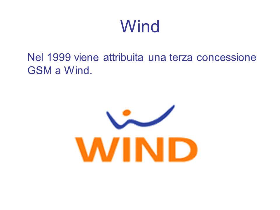 Wind Nel 1999 viene attribuita una terza concessione GSM a Wind.