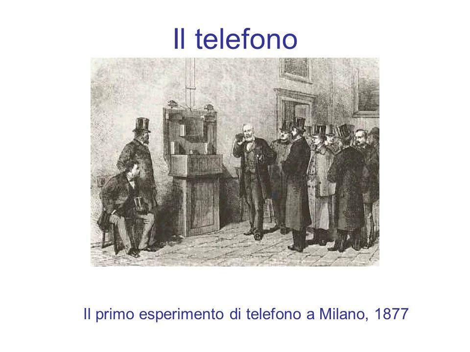 Il telefono Il primo esperimento di telefono a Milano, 1877