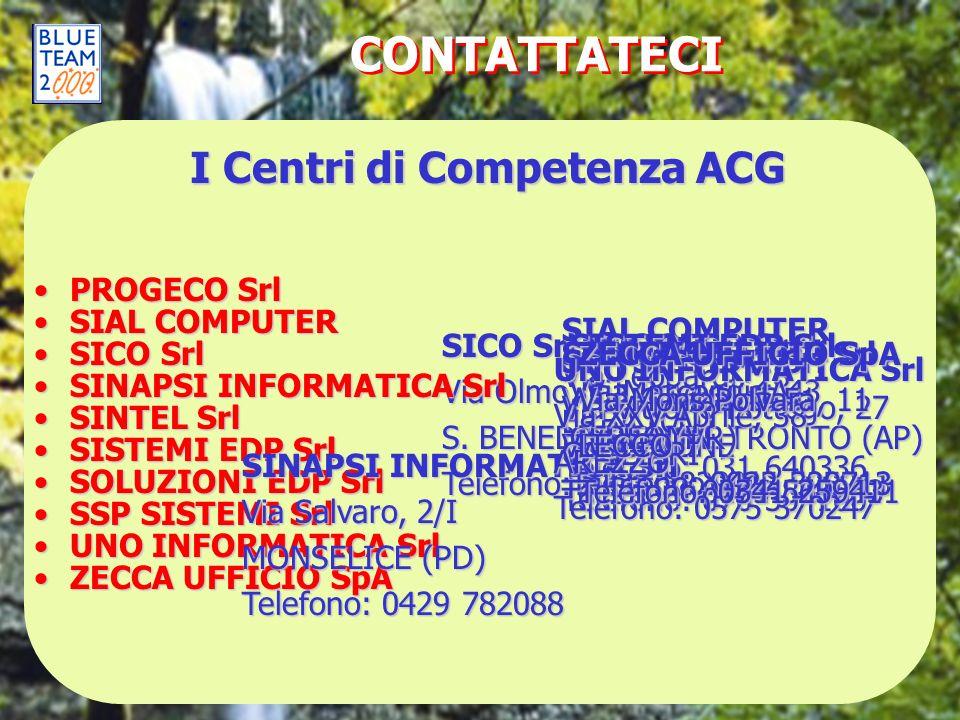CONTATTATECI PROGECO SrlPROGECO Srl SICO Srl Via Olmo, 1 S. BENEDETTO DEL TRONTO (AP) Telefono: 0735 582901 SIAL COMPUTERSIAL COMPUTER SICO SrlSICO Sr