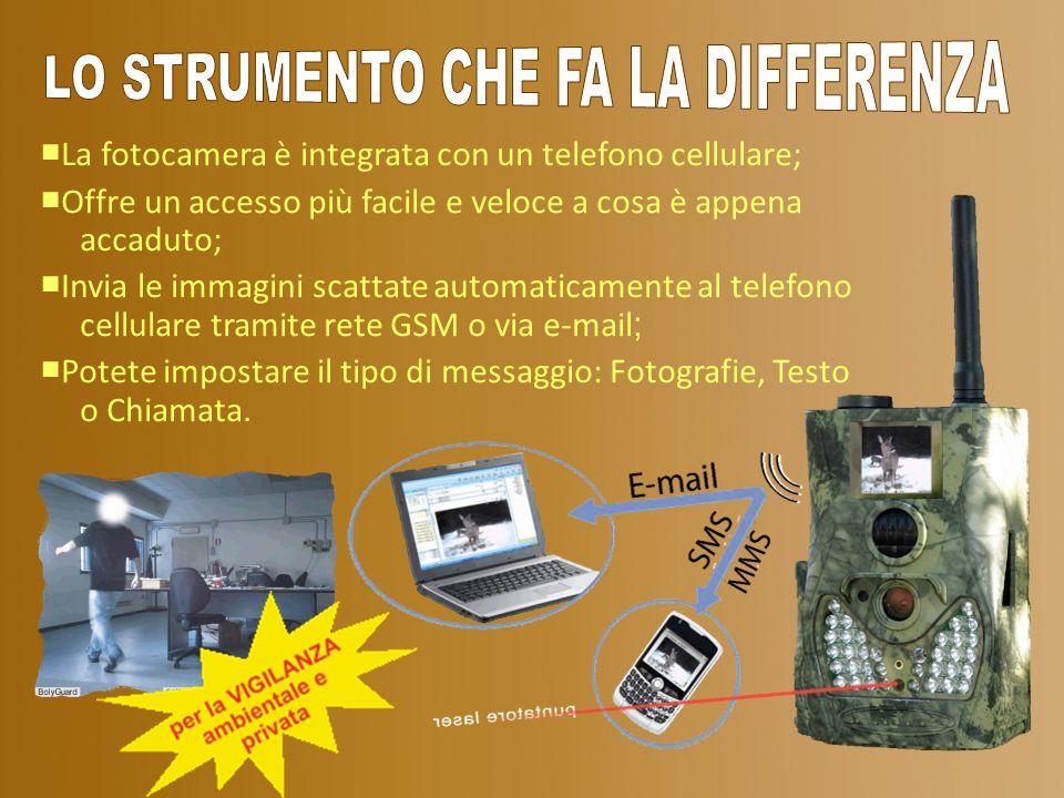 La fotocamera è integrata con un telefono cellulare; Offre un accesso più facile e veloce a cosa è appena accaduto; Invia le immagini scattate automat