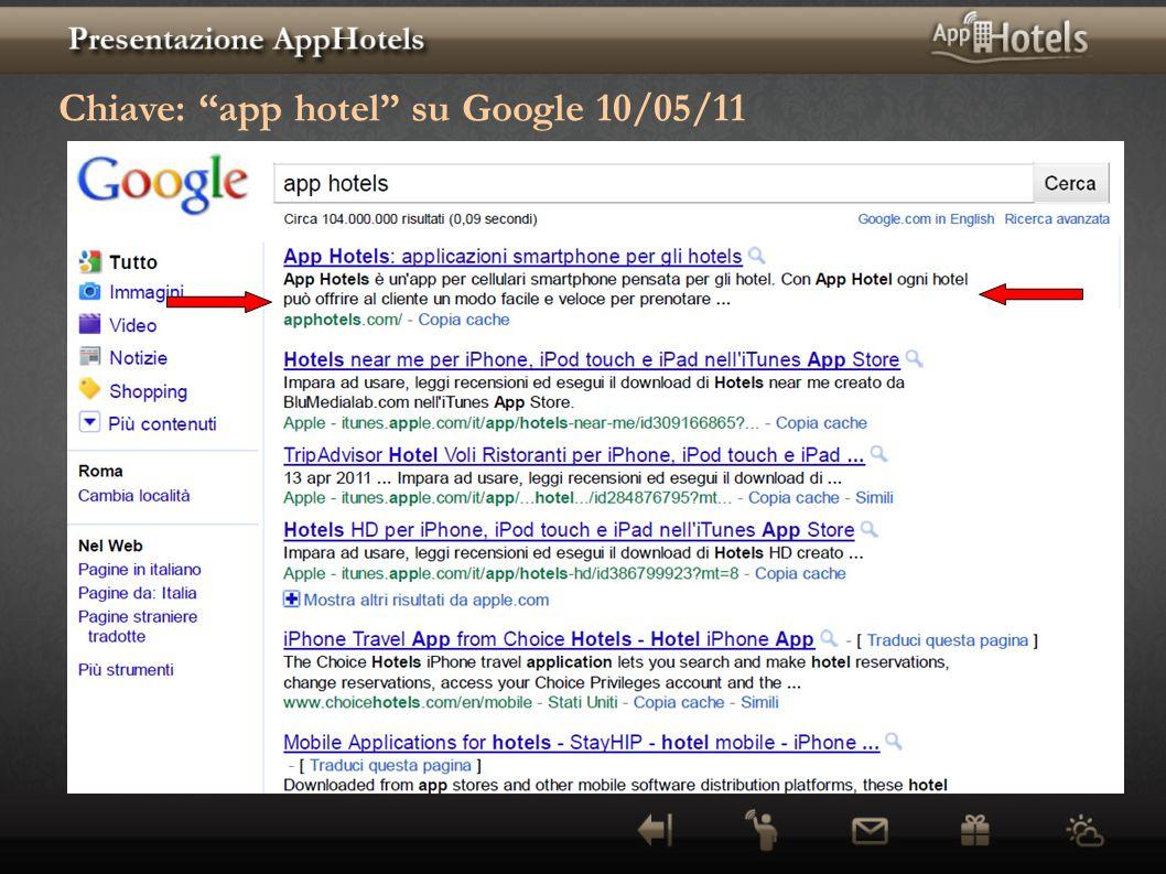 Chiave: app hotel su Google 10/05/11