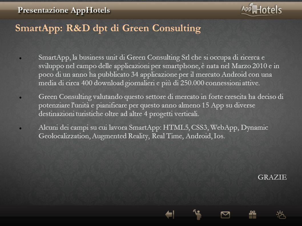 SmartApp: R&D dpt di Green Consulting SmartApp, la business unit di Green Consulting Srl che si occupa di ricerca e sviluppo nel campo delle applicazi