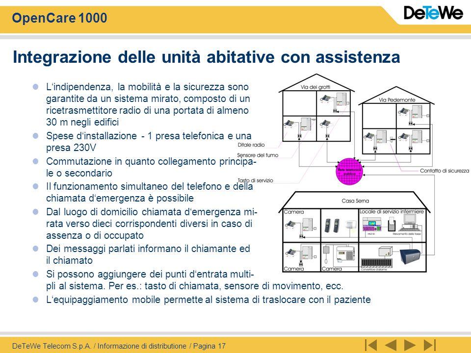 OpenCare 1000 DeTeWe Telecom S.p.A.