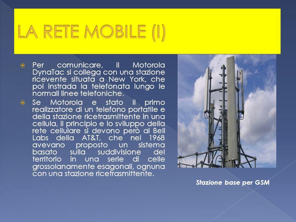 Per comunicare, il Motorola DynaTac si collega con una stazione ricevente situata a New York, che poi instrada la telefonata lungo le normali linee te