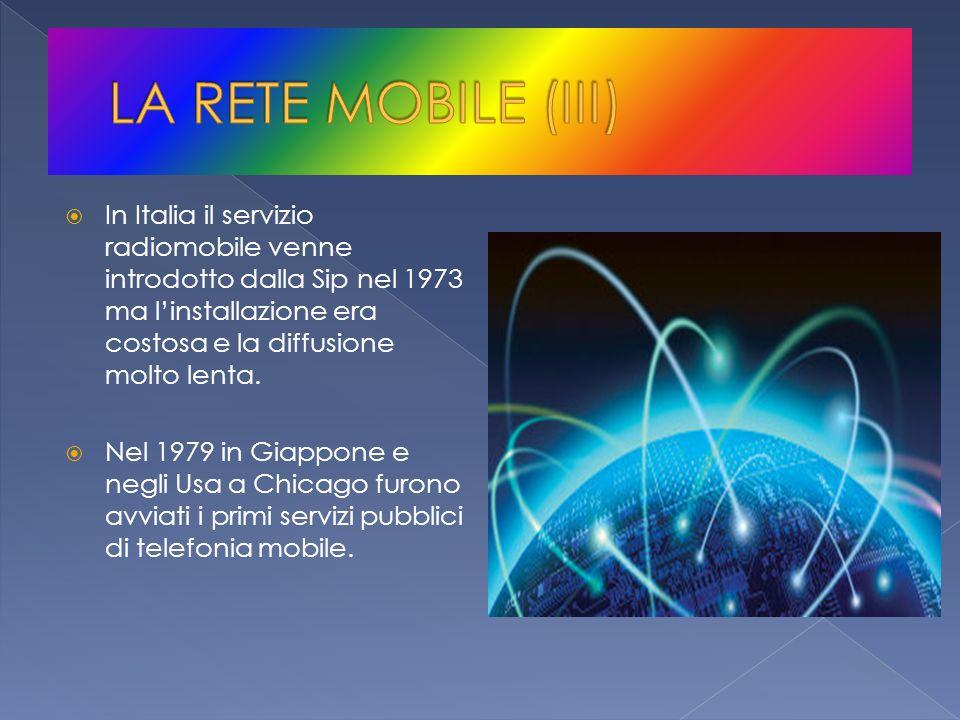 In Italia il servizio radiomobile venne introdotto dalla Sip nel 1973 ma linstallazione era costosa e la diffusione molto lenta. Nel 1979 in Giappone