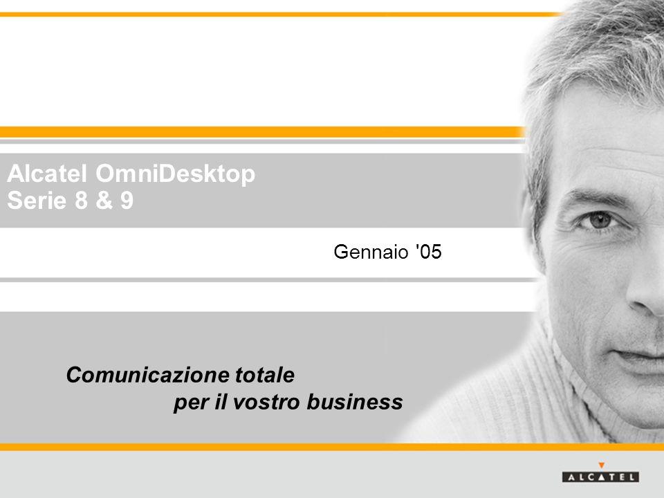 SMB Business Development 2 Tutti i diritti riservati © 2004, Alcatel Alcatel OmniDesktop: la gamma completa Reflexes OmniDesktop Serie 9 e-Reflexes 4004401040204035 401040204035 4068 OmniDesktop Series 8 4018 4019 4028 4029 4039 4038