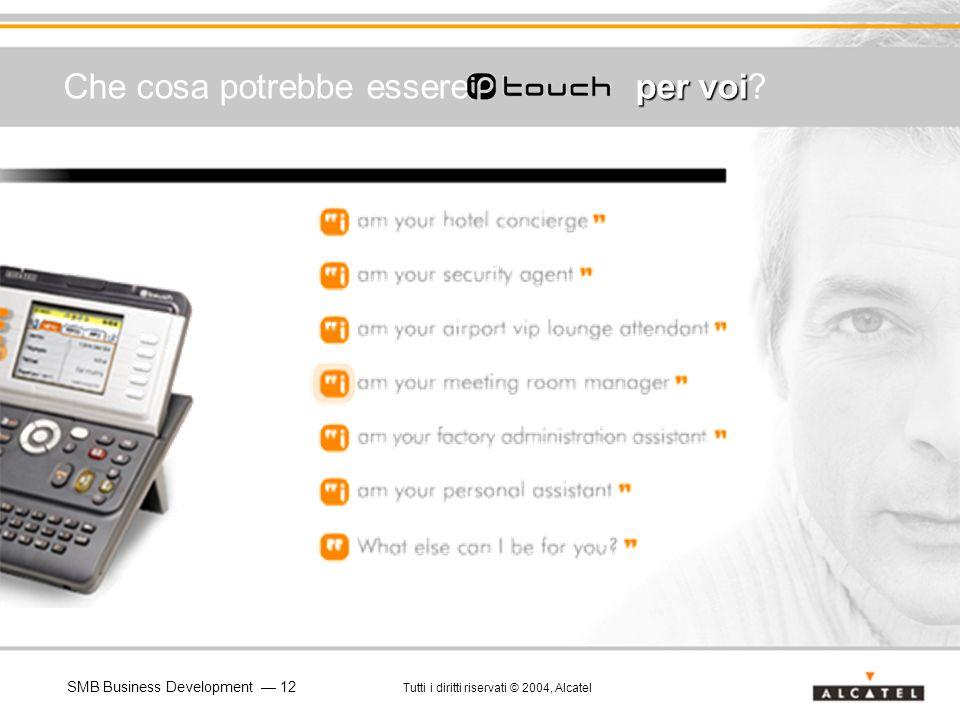 SMB Business Development 12 Tutti i diritti riservati © 2004, Alcatel per voi Che cosa potrebbe essere per voi?