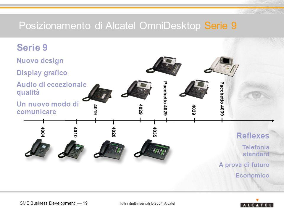 SMB Business Development 19 Tutti i diritti riservati © 2004, Alcatel Posizionamento di Alcatel OmniDesktop Serie 9 4010 4020 4035 4029 4039 4019 Seri