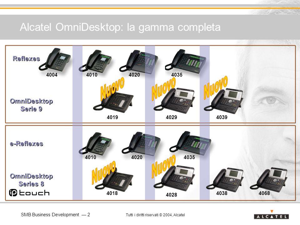 SMB Business Development 2 Tutti i diritti riservati © 2004, Alcatel Alcatel OmniDesktop: la gamma completa Reflexes OmniDesktop Serie 9 e-Reflexes 40
