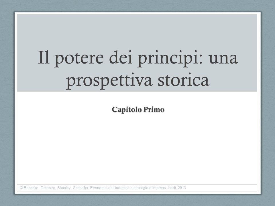 Il potere dei principi: una prospettiva storica Capitolo Primo © Besanko, Dranove, Shanley, Schaefer, Economia dellindustria e strategie dimpresa, Ise