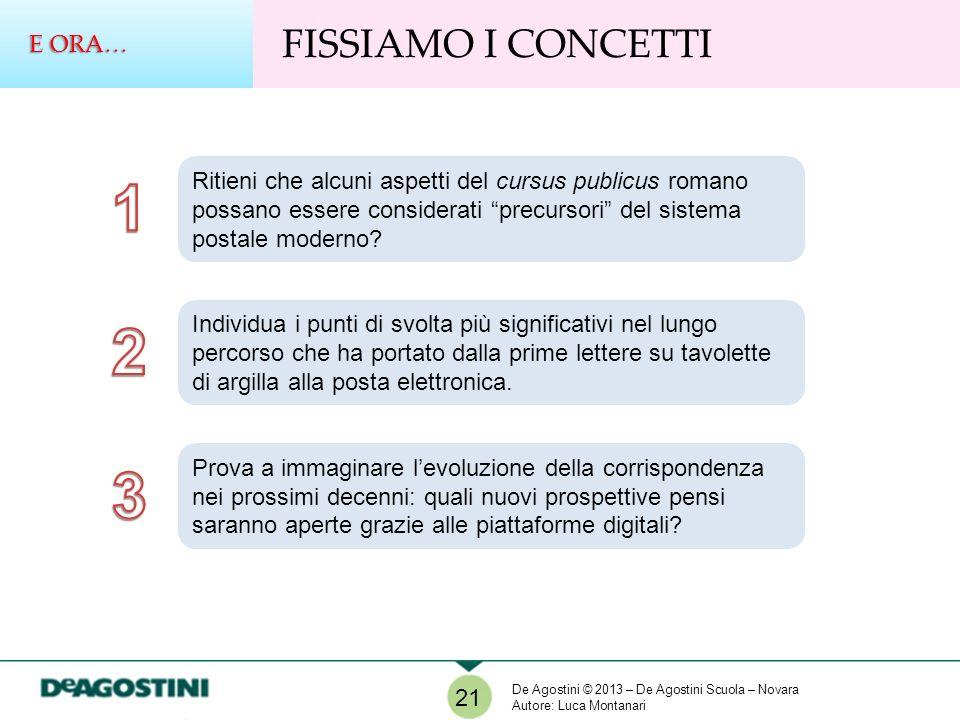 FISSIAMO I CONCETTI E ORA… 21 Ritieni che alcuni aspetti del cursus publicus romano possano essere considerati precursori del sistema postale moderno?