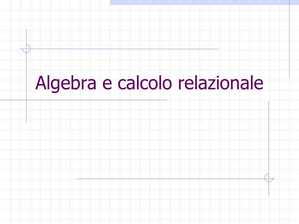 Algebra e calcolo relazionale