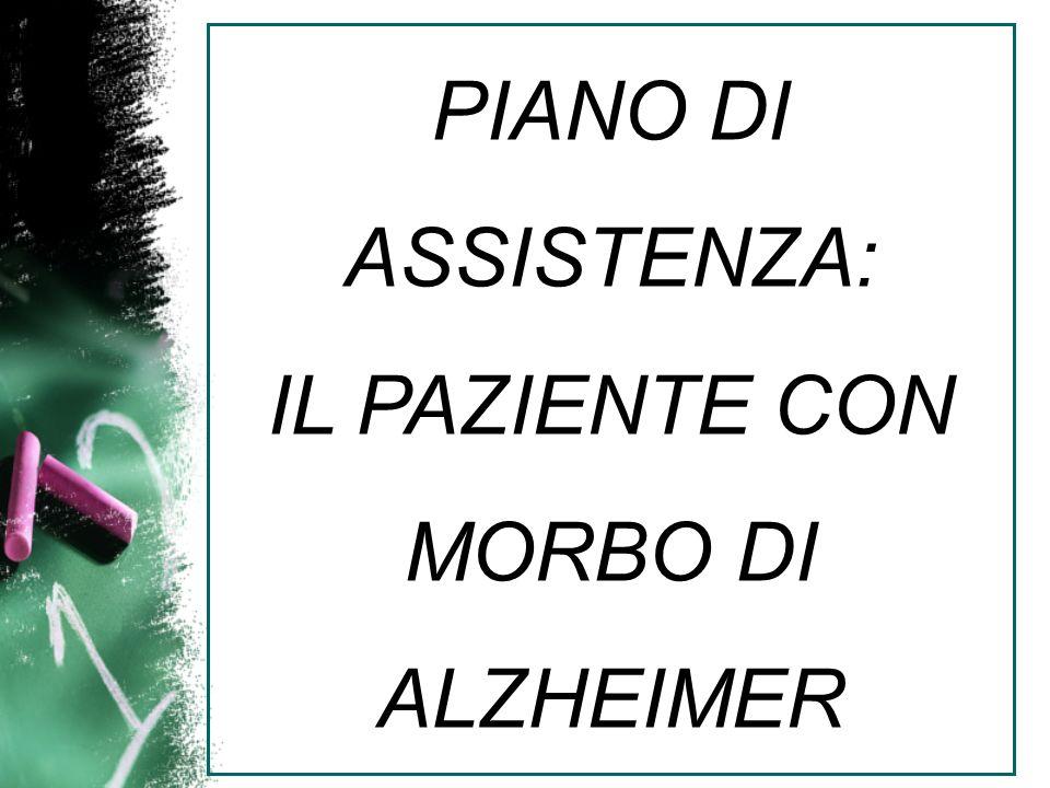 PIANO DI ASSISTENZA: IL PAZIENTE CON MORBO DI ALZHEIMER
