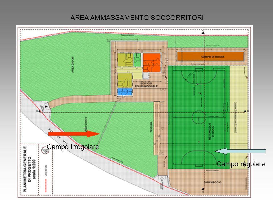 AREA AMMASSAMENTO SOCCORRITORI Campo irregolare Campo regolare