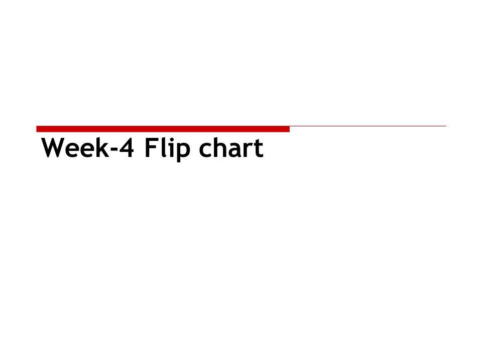 Week-4 Flip chart