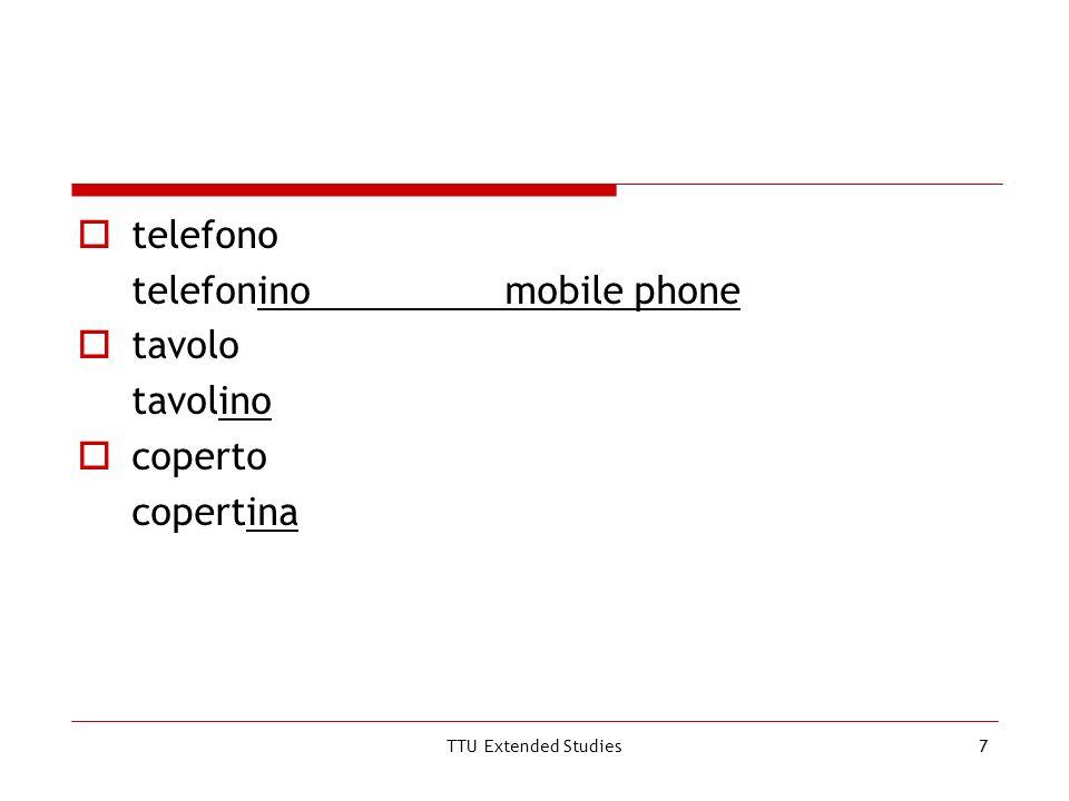 TTU Extended Studies7 telefono telefoninomobile phone tavolo tavolino coperto copertina