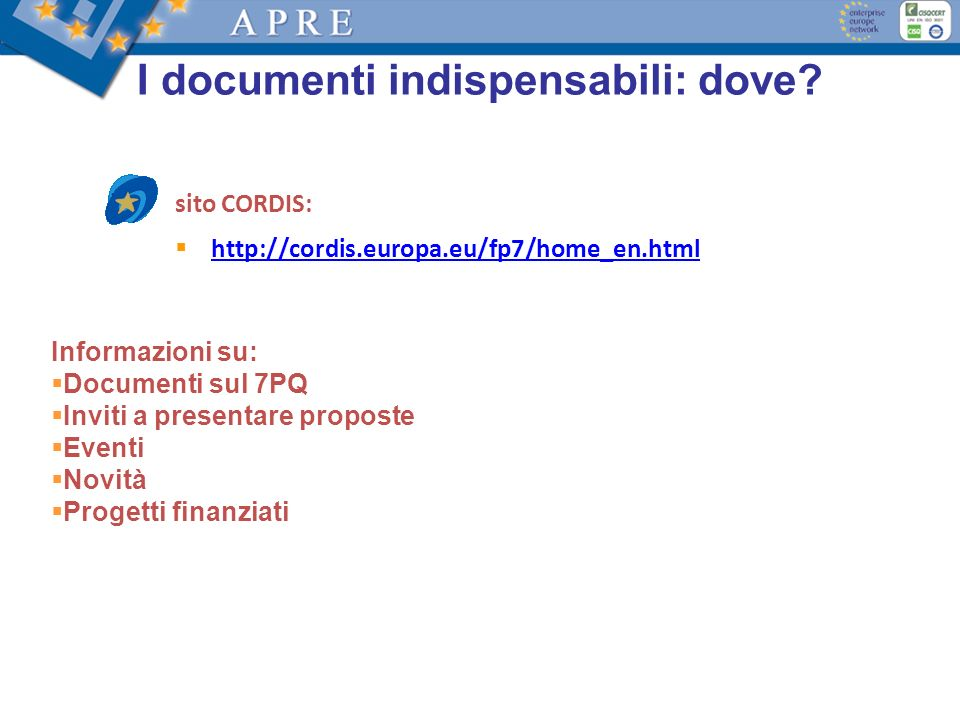 I documenti indispensabili: dove.
