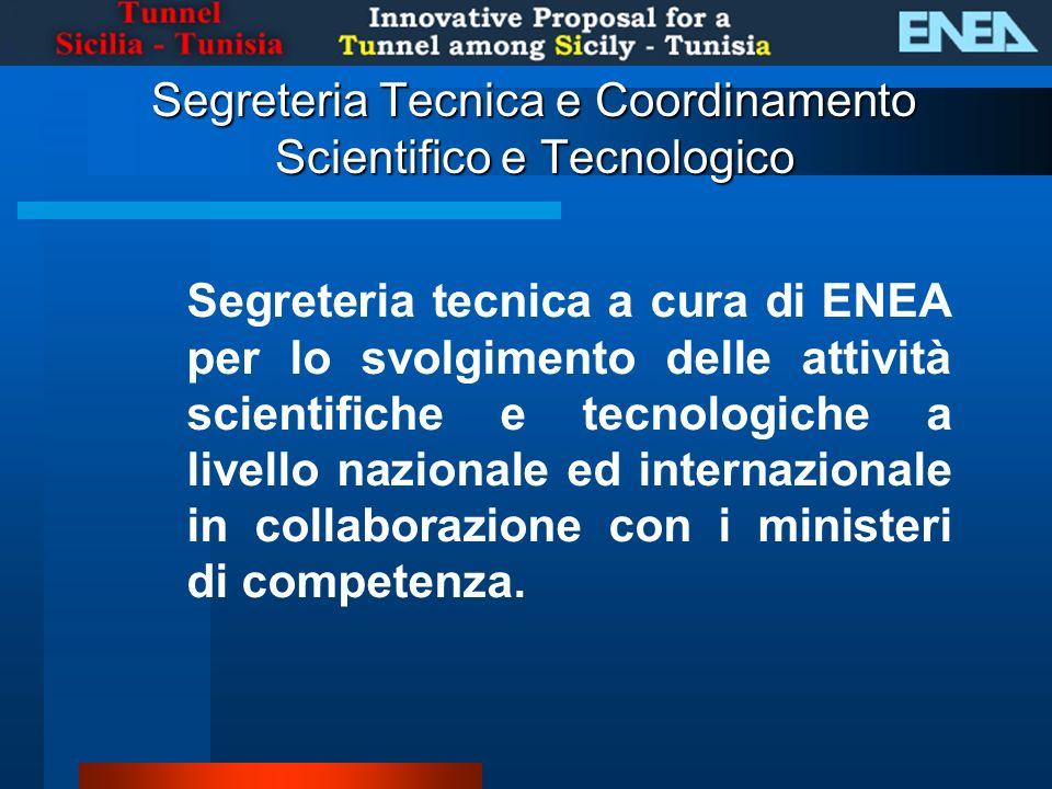 Segreteria tecnica a cura di ENEA per lo svolgimento delle attività scientifiche e tecnologiche a livello nazionale ed internazionale in collaborazione con i ministeri di competenza.