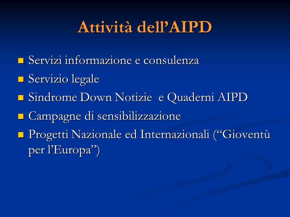 La sezione di Cosenza nata nel 1997, è una delle 43 Sezioni sparse su tutto il territorio nazionale, non ha fini di lucro ed opera in raccordo con le finalità statutarie ed operative dellAIPD Nazionale.