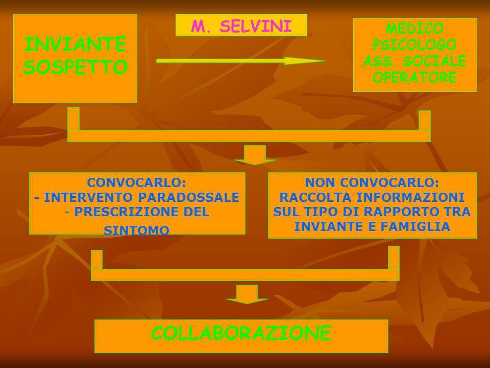 MARA SELVINI C. LORIEDO W. TRASARTI SPONTI TIPOLOGIE INVIANTE