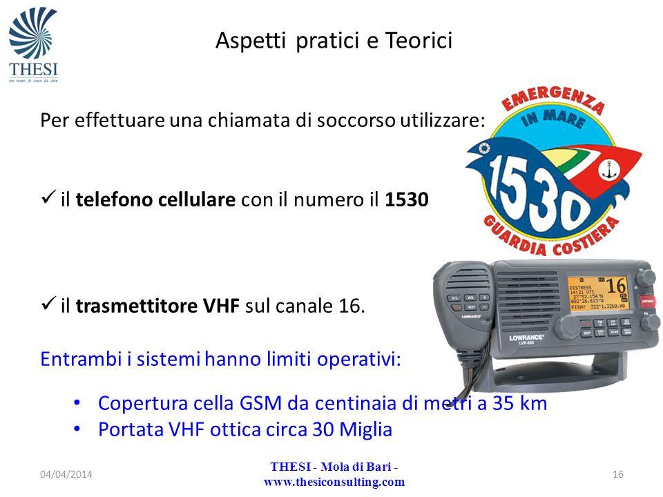 04/04/201416 Per effettuare una chiamata di soccorso utilizzare: il telefono cellulare con il numero il 1530 il trasmettitore VHF sul canale 16. Entra