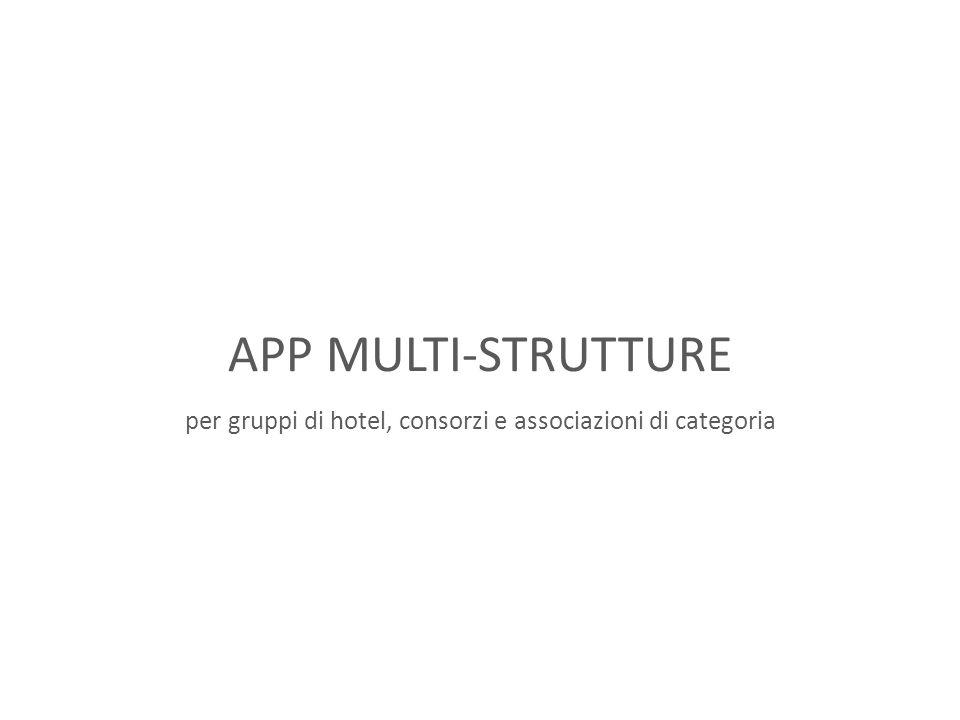 APP MULTI-STRUTTURE per gruppi di hotel, consorzi e associazioni di categoria
