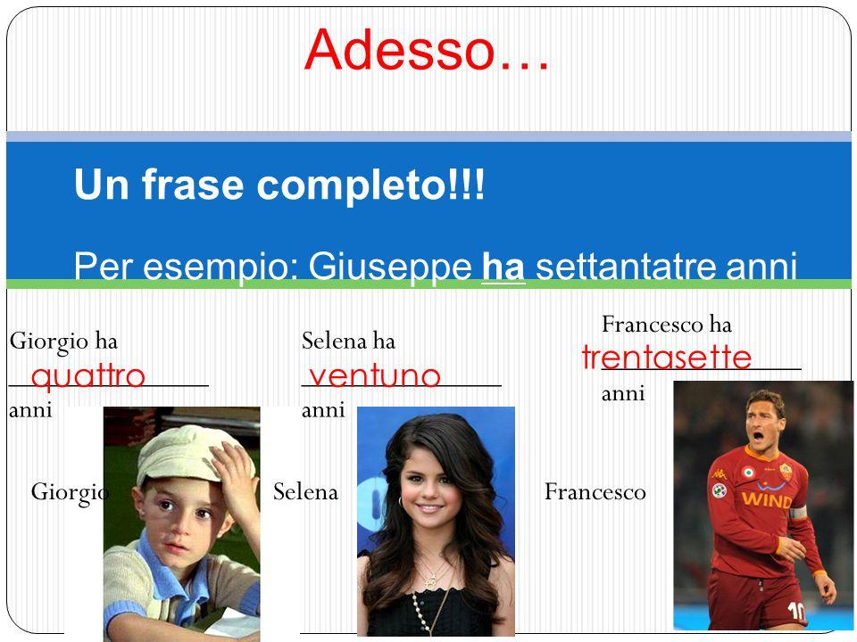 Adesso… GiorgioSelenaFrancesco Un frase completo!!.
