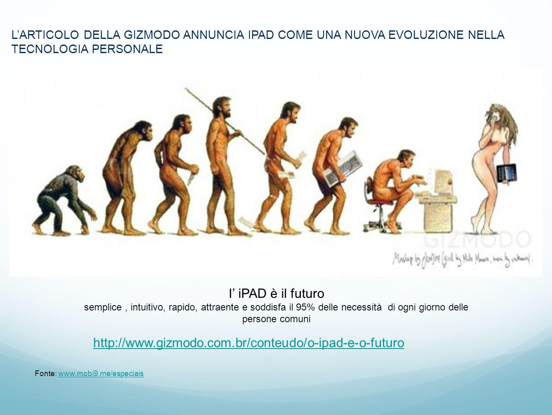 Marc LARTICOLO DELLA GIZMODO ANNUNCIA IPAD COME UNA NUOVA EVOLUZIONE NELLA TECNOLOGIA PERSONALE Fonte: www.mobi9.me/especiaiswww.mobi9.me/especiais I