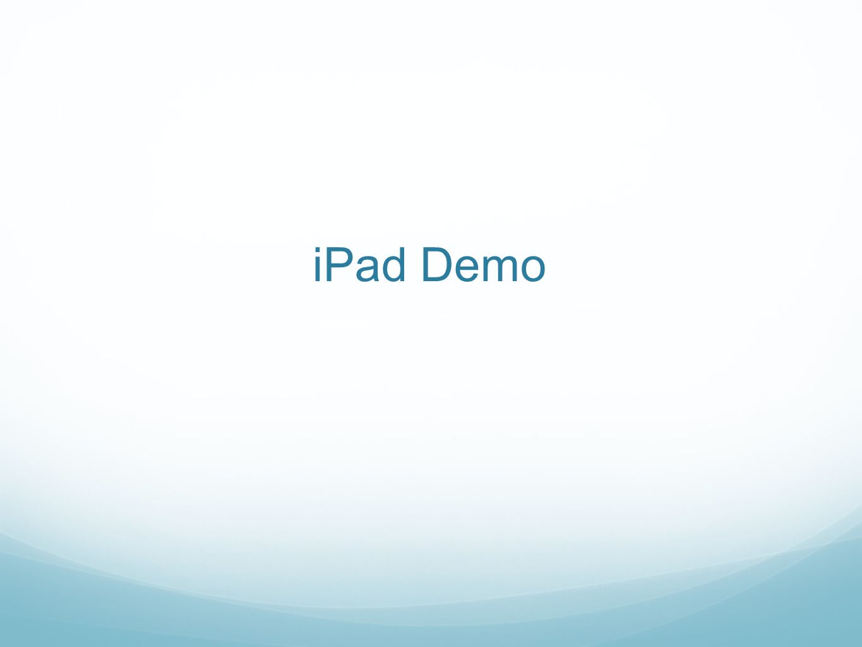 iPad Demo