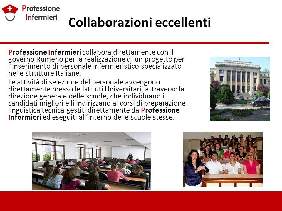 Collaborazioni eccellenti Professione Infermieri collabora direttamente con il governo Rumeno per la realizzazione di un progetto per linserimento di