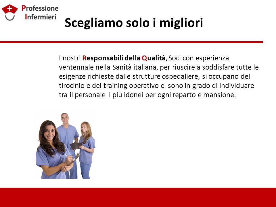 Scegliamo solo i migliori I nostri Responsabili della Qualità, Soci con esperienza ventennale nella Sanità italiana, per riuscire a soddisfare tutte l