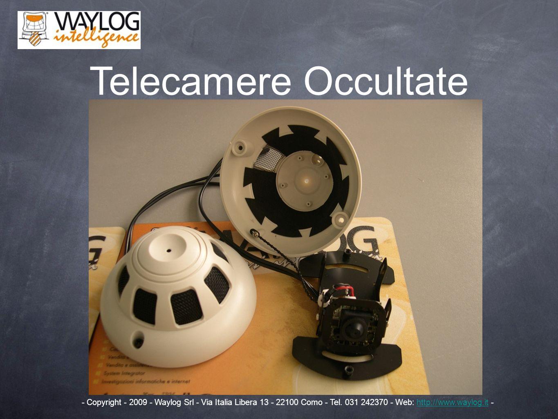 Telecamere Occultate - Copyright - 2009 - Waylog Srl - Via Italia Libera 13 - 22100 Como - Tel. 031 242370 - Web: http://www.waylog.it -http://www.way