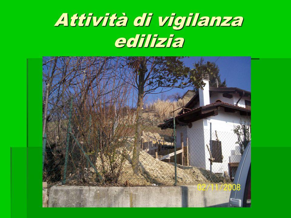 Attività di vigilanza edilizia