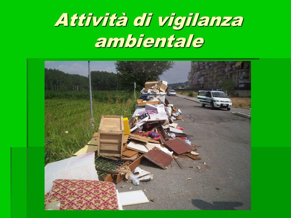 Attività di vigilanza ambientale