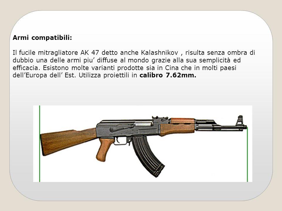 Armi compatibili: Il fucile mitragliatore AK 47 detto anche Kalashnikov, risulta senza ombra di dubbio una delle armi piu diffuse al mondo grazie alla