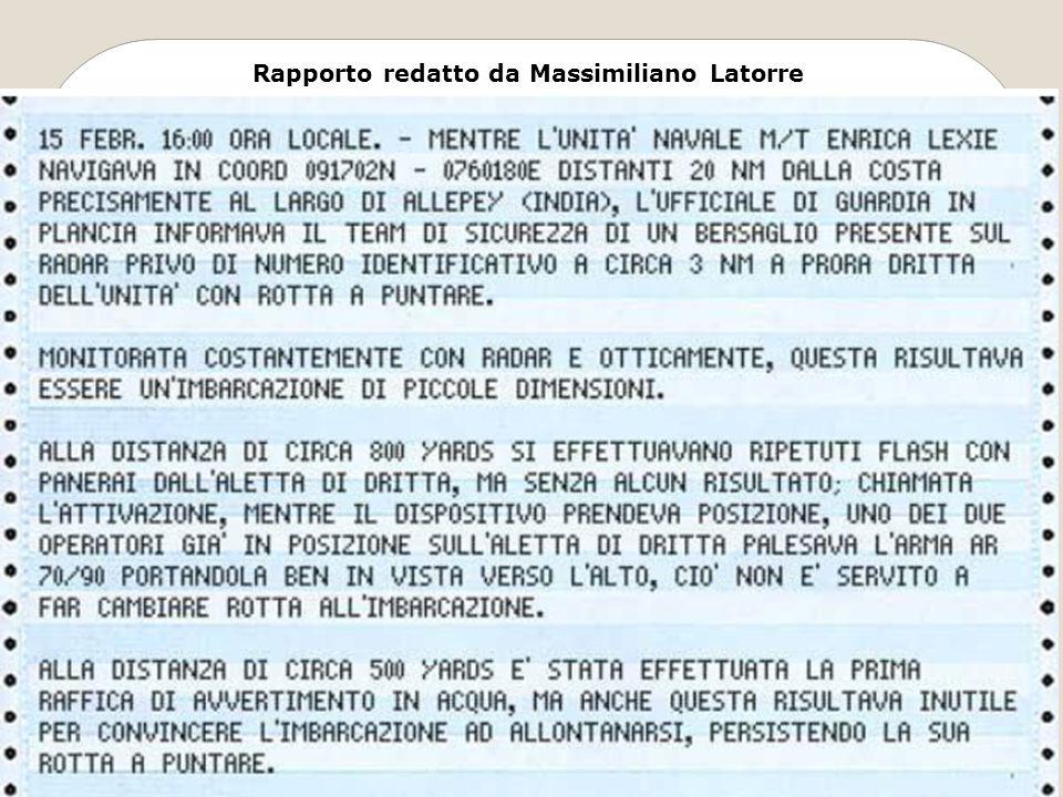 Rapporto redatto da Massimiliano Latorre