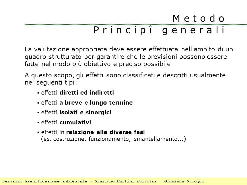 M e t o d o P r i n c i p î g e n e r a l i La valutazione appropriata deve essere effettuata nell'ambito di un quadro strutturato per garantire che l
