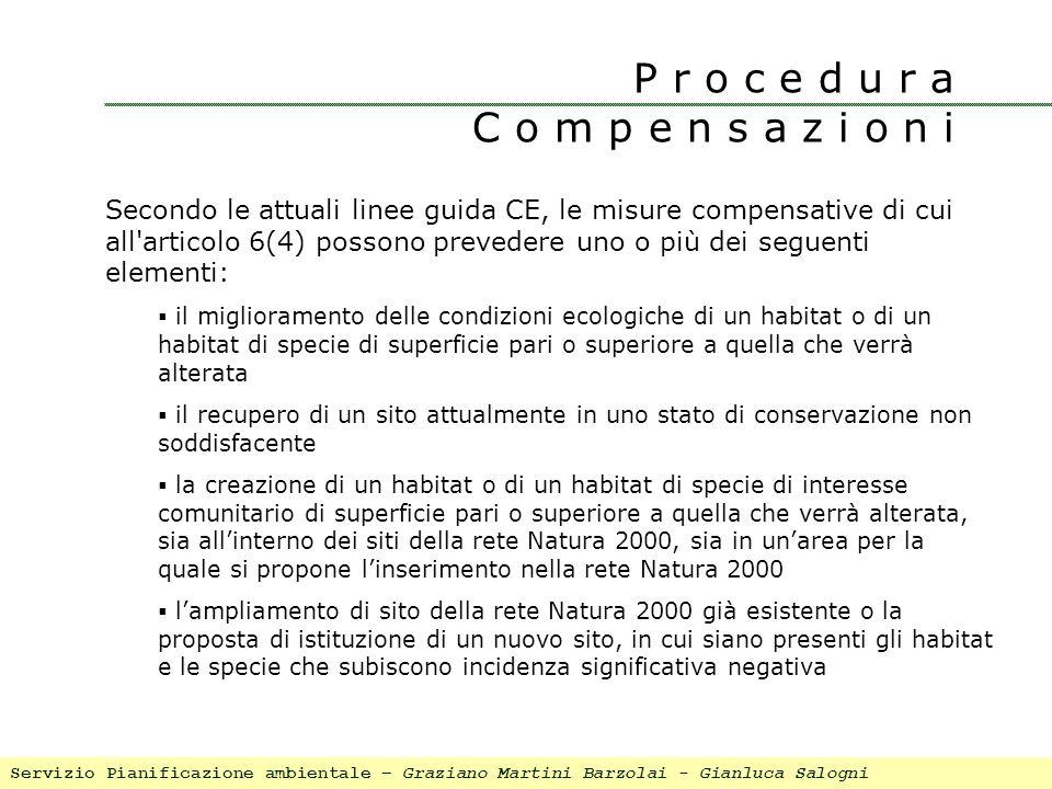 Secondo le attuali linee guida CE, le misure compensative di cui all'articolo 6(4) possono prevedere uno o più dei seguenti elementi: il miglioramento
