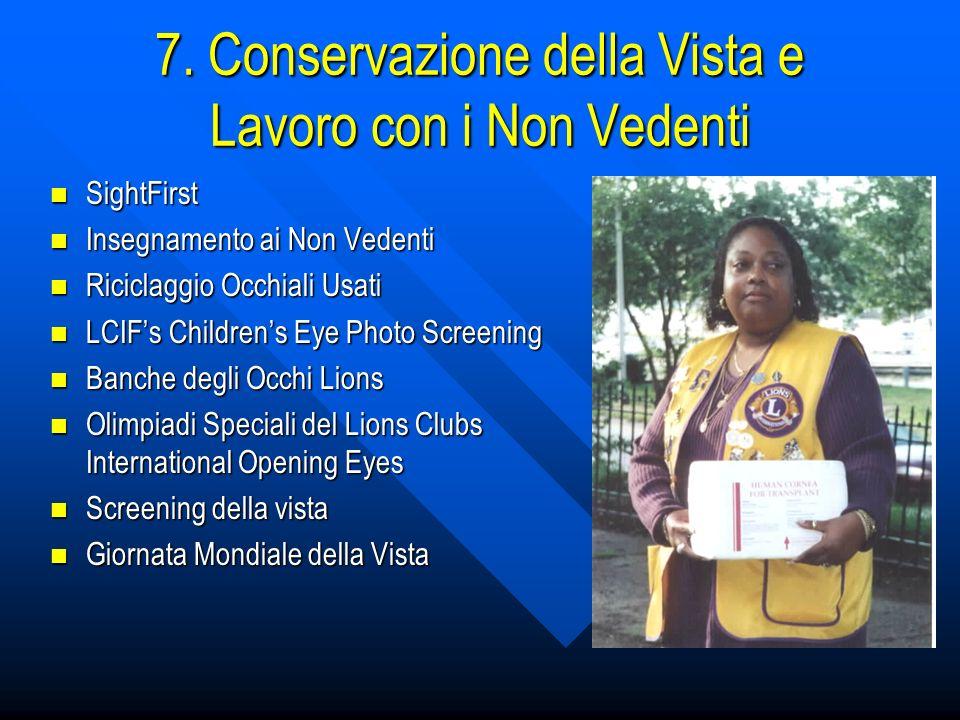 7. Conservazione della Vista e Lavoro con i Non Vedenti SightFirst Insegnamento ai Non Vedenti Riciclaggio Occhiali Usati LCIFs Childrens Eye Photo Sc